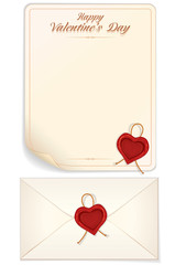 Valentine Day, Love Letter Print Template