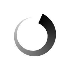 Abstract geometric circle icon, simple style