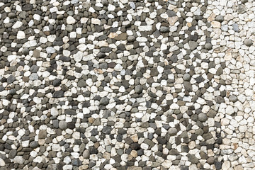 black and white rough stones