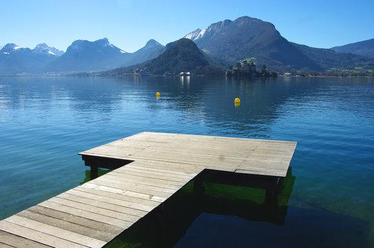 Lac d'Annecy  - Ponton à Talloires