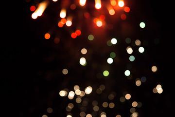 blurred lights on a dark background. firework