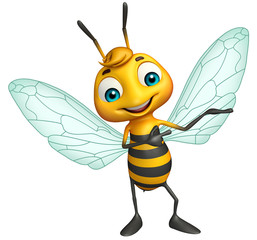 cute Bee funny cartoon character