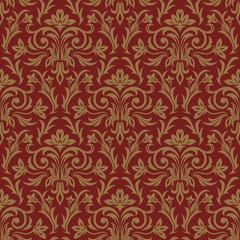 Elegant damask wallpaper. Vintage pattern