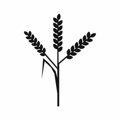 Wheat ears icon, simple style
