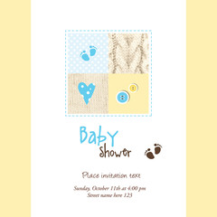 Baby shower card - cute design for invitations, greetings...
