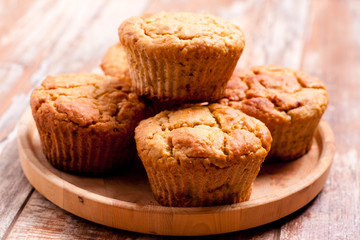 Carrot muffins for healthy kids lunch