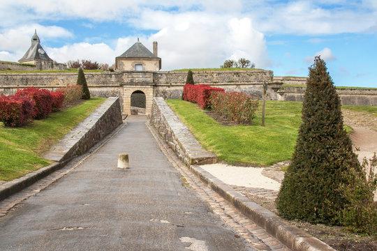 Blaye. Porte Dauphine de la citadelle, Gironde, France