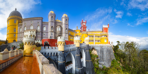 View of Palace da Pena - Sintra, Lisboa, Portugal - European travel Fototapete