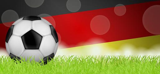 Fußballwiese mit Deutschlandflagge