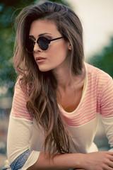 woman with sunglasses portrait