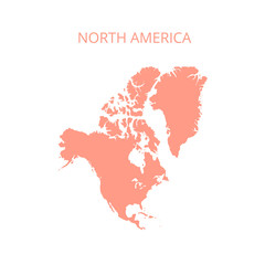 North America map. Vector illustration.