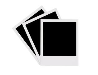 Instant photo frames on white background