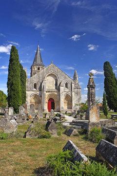 Church Saint-Pierre in Aulnay, Charente-Maritime, Poitou-Charentes. UNESCO World Heritage Site - the Pilgrim's Road to Santiago de Compostela