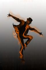 Dancer dancing dances on the background
