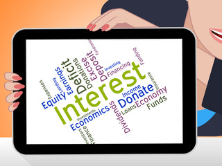 Interest Word Indicates Profit Returns And Text
