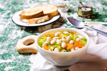 Soup with vegetables and beans