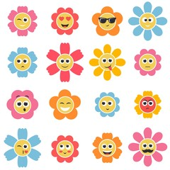 flower smiley faces