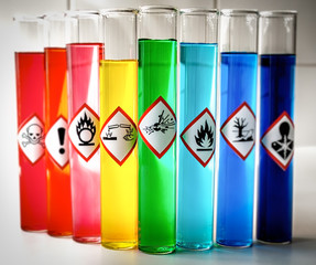 Aligned Chemical Danger pictograms - Explosive