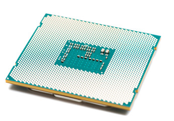 Computer processor CPU on white background