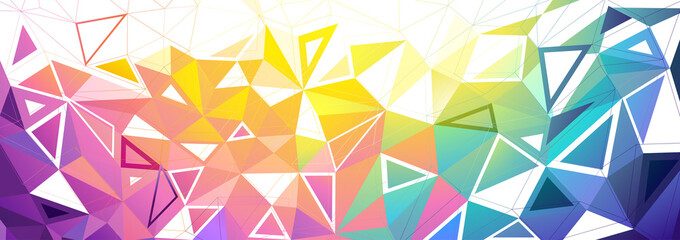 Colorful Low Poly Background