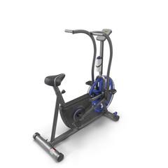 Bicycle exercise machine isolated on white. 3D Illustration