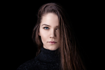portrait of young beautiful girl