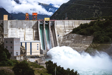 Hydro power plant near Basum Tso lake in Tibet, China