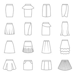 Set of skirts, vector illustration