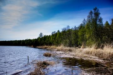 Берег реки весной.Архангельск.