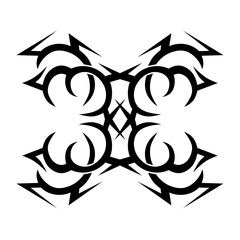 Tattoo. Stencil. Pattern. Design. Ornament. 