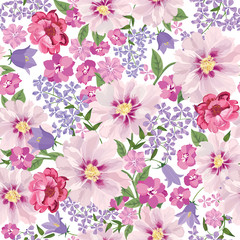 Floral seamless pattern. Flower background. Floral card Flourish texture