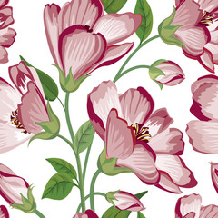 Floral seamless pattern Flower background. Flourish wallpaper