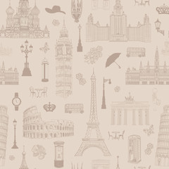 Travel London Landmarksenglish Icon Set London Symbols