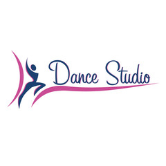Dance logo, badge and emblem. Woman dancing. Dance studio logo design vector template