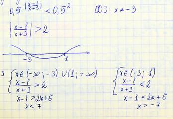 Math formulas.