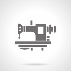 Old sewing machine glyph style vector icon