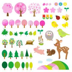 春の森 動物たち セット