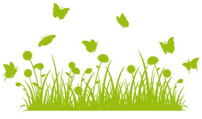 Butterfly meadow Silhouette - Silhoutte Schmetterlingswiese