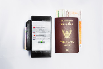 Smartphone translate &Passport travel to cambodia