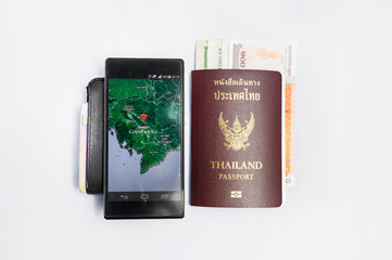 Smartphone &Passport travel to cambodia