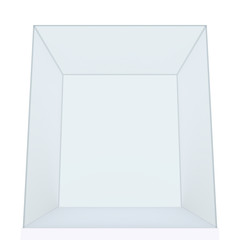 Empty Glass Cube isolated