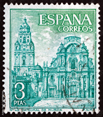 Postage Stamp Spain 1969 Murcia Cathedral