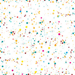 Seamless pattern. Multicolored confetti on a white background