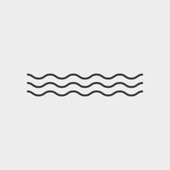Wave icon isolated on white background. Vector illustration