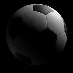 Soccer ball on black background. Include clipping Path.