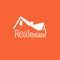 Orange real estate company logo