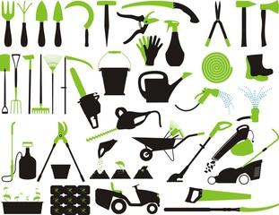 Obraz Gardening vector set - fototapety do salonu