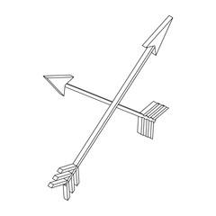 2 arrows, isometric 3d icon