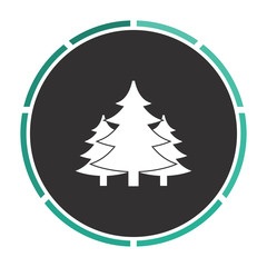 chritmas spruce computer symbol