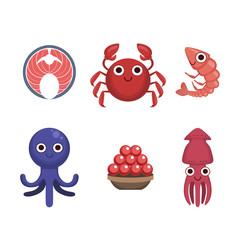 Market Sold Seafood Set